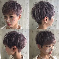 HAIR (hair) is a hair style that stylist models send out. Tomboy Hairstyles, Bob Hairstyles For Thick, Undercut Hairstyles, Pixie Hairstyles, Pixie Haircut, Haircuts, Choppy Hair, Short Curly Hair, Curly Hair Styles