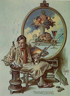 J.C. Leyendecker, original oil painting, cover illustration art for The American Weekly.