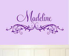 Princess Crown Name Wall Decal Girl Nursery Stars par AllOnTheWall