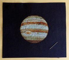 Jupiter Cross Stitch Pattern Instant Download PDF by SpaceNavid