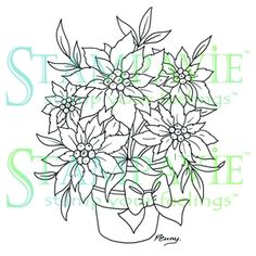 Stampavie Clear Stamp - Poinsettia, The Stamp Simply Ribbon Store