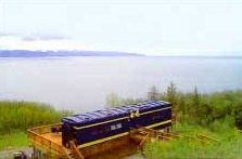 Alaska Adventure Cabins offers guests an opportunity to stay in a rebuilt railroad car, the Moose Caboose Rail Car ,in Homer, Alaska