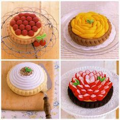 Fruit Tarts Free Japanese Felt Sewing Patterns Download