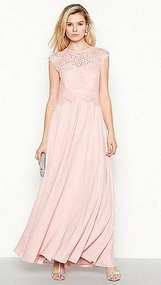 Debut - Rose 'Olivia' Floral Lace Maxi Dress