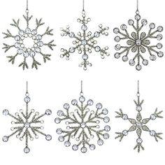 6er Set Anhänger Schneeflocke Hängedeko Weihnachten Baumschmuck 15 cm ShalinIndia http://www.amazon.de/dp/B00LSNLJWG/ref=cm_sw_r_pi_dp_vCPOub194BV2D