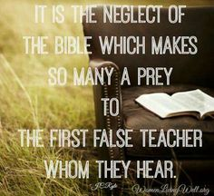 Bible neglected ...Sin selected!!!