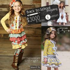 I absolutely LOVE Forty Toes Photograpy! Enter to win a Back to School shopping spree! Toddler Outfits, Kids Outfits, Cute Outfits, Girls Boutique, Boutique Clothing, Shopping Spree, School Shopping, Little Girl Fashion, Fun To Be One