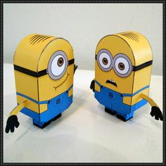 Despicable Me 2 - Dave and Stuart Minions Free Paper Toys Download