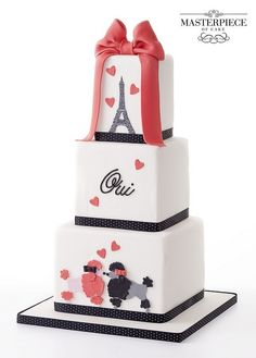 In keeping with the Paris honeymoon theme- Paris Poodle Wedding Cake Pretty Cakes, Beautiful Cakes, Amazing Cakes, Fondant Cakes, Cupcake Cakes, Parisian Cake, Paris Cakes, Valentines Day Cakes, Just Cakes