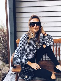 gingham and celine sunnies