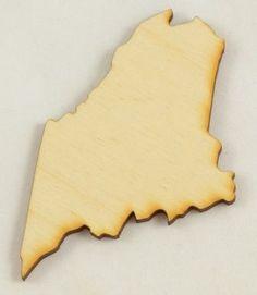 Maine State Cutout