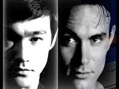 Brandon Lee & Bruce Lee, his father. Both died way to soon. Brandon Lee, Bruce Lee Children, Bruce Lee Family, Martial Arts Movies, Martial Artists, Bruce Lee Fotos, Bruce Lee Collection, Theater, Hollywood Men