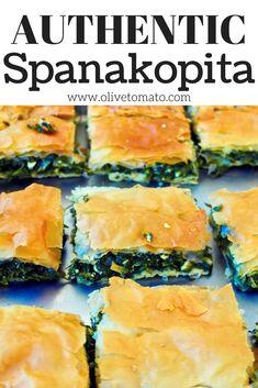 Spanakopita Recipe - Greek Spinach and Feta Pie