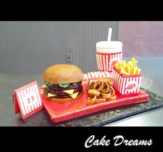 Cake Dreams  108 S. Front St.  Kyle, Texas 78640  512-626-0434  Whataburger Cake by Cake Dreams  www.cakedreamstx.com