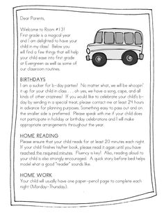 Pass out something similar at Meet the Teacher Night- like the part about birthdays and explanation!