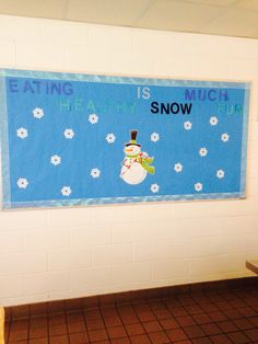 Healthy Habits winter cafeteria board revised. | HH School ...