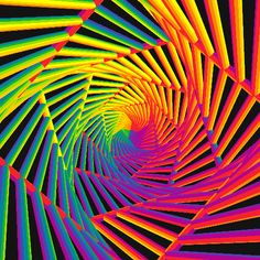 Psychedelic Aesthetic: You dont need to try a psychedelic to appreciate this awesome list of trippy visuals, optical illusions, & More! Optical Illusion Gif, Illusion Art, Optical Illusions, Cool Illusions, Magic Illusions, Fractal Art, Fractals, Fractal Images, Trippy Visuals