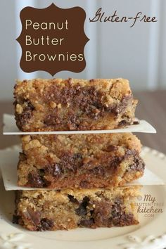 Peanut Butter Brownies {Gluten-free} - I make these once a month! So good!