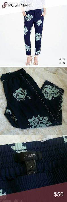J. Crew Reese pant in graphic peony J. Crew Reese pant in graphic peony. Size 12. East waist, pockets, fully lined. In excellent condition. J. Crew Pants Ankle & Cropped