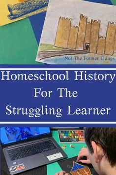 Homeschool History For The Struggling Learner - multisensory and engaging ways to help your struggling learner develop a love of history. Social Studies Activities, History Activities, Teaching History, Secular Homeschool Curriculum, Homeschool High School, Homeschooling Resources, 2nd Grade Books, Autism Learning, How To Start Homeschooling