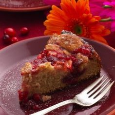 Cranberry-Apple Coffee Cake - EatingWell.com