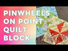 Alex's quilting tutorial is on how to make the Pinwheel Quilt Block on Point The Quilt Show, Pinwheel Quilt, Quilting Tutorials, Quilt Top, Pinwheels, Quilt Blocks, Quilts, Make It Yourself, How To Make