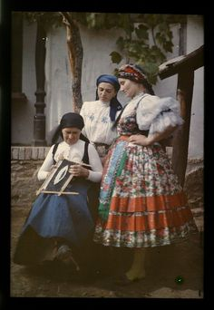 From Váralja, 1924 European Costumes, Princess And The Pea, Hungarian Embroidery, Folk Dance, Folk Costume, World Of Color, My Heritage, Traditional Dresses, The Little Mermaid