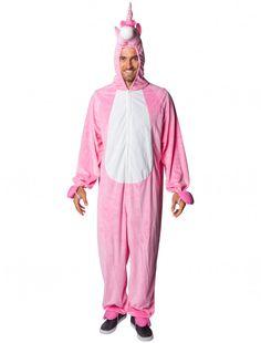 Einhorn Kostüm Hoodie Jumpsuit Pyjamas Fleece Schlafanzug Knielänge Damenkostüme
