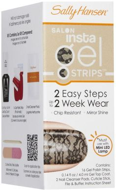 Sally Hansen Salon Insta Gel Nail Polish Strips - 410 Amazing Lace #SallyHansen