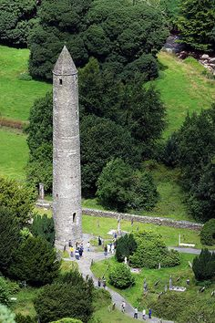 Glendalough, Ireland. Glendalough, or the Glen of two Lakes, is one of the most important sites of monastic ruins in Ireland. It is also known as the city of the seven Churches. Fourteen centuries have passed since the death of its founder, St. Kevin, when the valley was part of Ireland's Golden Age.