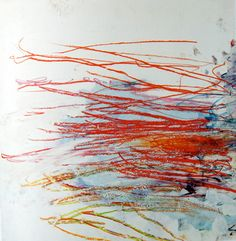 Cy Twombly. His line and color work are beautiful. One of my favorite artists.