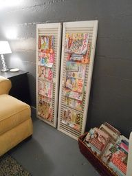 Cool idea! Use shutters for a magazine rack.