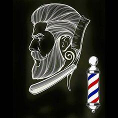 #barbershop #barberlife Barber Shop Pole, Barber Shop Decor, Barber Man, Barber Logo, Barber Tattoo, Master Barber, Barbers Cut, Barbershop Design, Salon Design