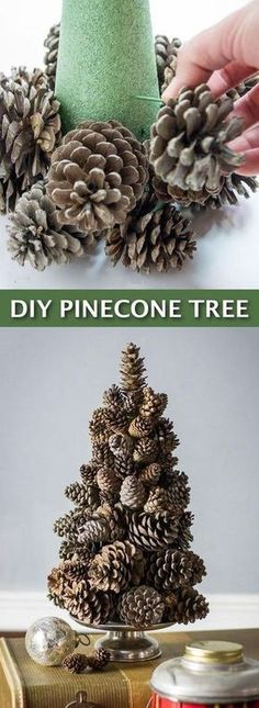 Lots of craft … Easy DIY Cheap Christmas Decor– super easy pine cone tree craft! Lots of craft …,Listotic Easy DIY Cheap Christmas. Noel Christmas, Christmas Projects, Holiday Crafts, Christmas Wreaths, Xmas Crafts To Sell, Christmas Music, Christmas Ideas, Pinecone Christmas Crafts, Pine Cone Christmas Decorations