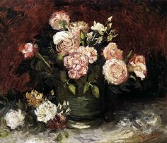Bowl with Peonies and Roses June 1886, Paris Oil on canvas, 59 x 71 cm Rijksmuseum Kröller-Müller, Otterlo