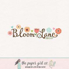 flower logo photography logo premade logo florist logo event planner logo wedding planner logo blog logo website logo boutique logo design