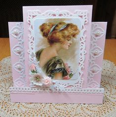 Victorian birthday card by JD from PAUSA – Cards and Paper Crafts at Splitcoaststampers – Pop-up and Cards – Diy 3d Cards, Folded Cards, 90th Birthday Parties, Birthday Cards, Joann Crafts, Step Cards, Scrapbook Paper, Scrapbooking, Paper Crafts