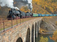 Circum Baikal Railroad - the most expensive and beautiful part of Trans-Siberian Express route.