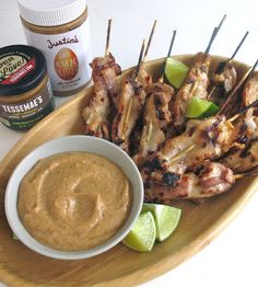 Coconut Chicken Skewers with Justins Almond Butter and Coconut Milk
