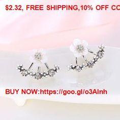 Crystal Stud Earrings Boucle d'oreille Femme 2016 Fashion Flower Earrings for Women Gold Bijoux #Earrings #Rings #Handmade #Silver #Pandora #Nature #Necklaces #Bracelets #Pendants #Bangles