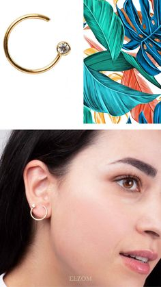 Yellow gold earrings. Mixing and matching the colors ✨