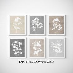 Gallery Wall, Botanical Print Set, Floral Wall Art, Floral Wall, Gallery Wall Set, Farmhouse Wall Art, Flower Wall Decor, Purple Wall Art, Print Sets