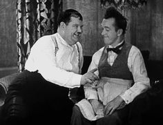 """Laurel & Hardy """"Our Wife"""" 1931. """"Here's another fine mess you've gotten me into, Ollie...""""."""