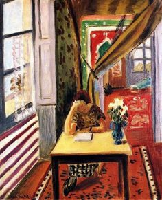 Reader Leaning her Elbow on the Table Henri Matisse 1923-1924