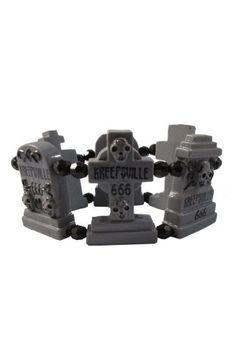 Kreepsville 666 Graveyard Groupie grey gravestone bracelet