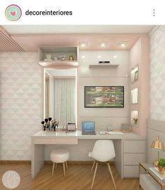 40 + modern and dreamy dorm & bedroom design ideas for you - Page 44 of 44 - SooPush : Dorm design, bedroom decor, home design, interior design Dorm Design, Interior Design, Room Interior, Small Room Bedroom, Bedroom Decor, Girls Bedroom, Bedroom Ideas, Bed Room, Girl Bedroom Designs