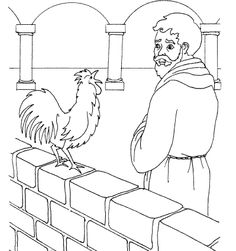Peter Remembers Jesus Words Catholic Coloring Page