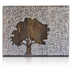 Inverse Oak Tree String Art Kit One-of-a-kind home decor wall art that you make yourself. Keep it or gift it. either way you'll be a winner with this unique tree string art for your home or Art Projects For Adults, Arts And Crafts Projects, Hobbies And Crafts, Arts And Crafts For Adults, Diy Projects, Felt Projects, Sand Crafts, Tree Crafts, Diy Crafts