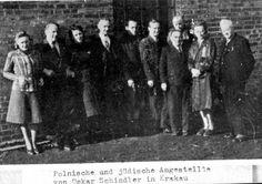 Krakow, Poland, Oskar Schindler with some of his employees, 1942.
