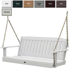 Outdoor Poly Furniture: Highwood Furniture Lehigh Porch Swing from OutdoorPolyFurniture.com